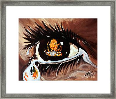 Dark Sorrow  Framed Print by Jackie Carpenter