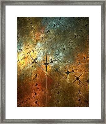 Dark Star Grid Framed Print