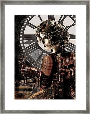 Dark Steampunk Framed Print by Jane Schnetlage