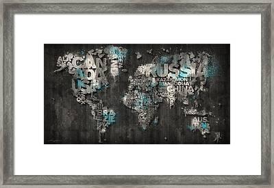 Dark Storm Blue Framed Print by Mikael B Design