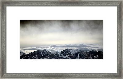 Framed Print featuring the photograph Dark Storm Cloud Mist  by Barbara Chichester
