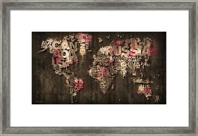 Dark Storm Red Framed Print by Mikael B Design