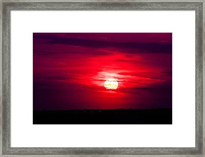 Dark Sunset Framed Print by Julie Andel