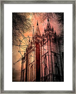 Framed Print featuring the photograph Dark Temple by Jim Hill