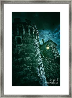 Dark Tower Framed Print by Carlos Caetano