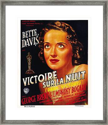 Dark Victory, Aka Victoire Sur La Nuit Framed Print by Everett