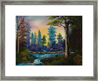 Waterfall Fantasy Framed Print by C Steele