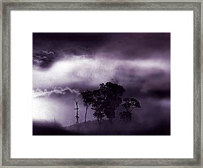 Framed Print featuring the painting Dark World by Persephone Artworks
