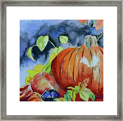 Framed Print featuring the painting Darkening by Beverley Harper Tinsley