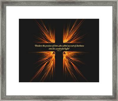 Darkest Day Brightest Light Framed Print by R Thomas Brass