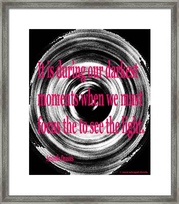 Darkest Moments Framed Print by Josephine Ring
