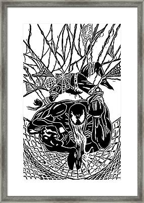 Darkhawk Illustratrion Framed Print by Justin Moore