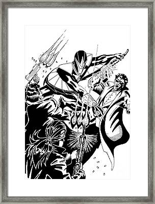 Darkhawk Issue 1 Homage To Mike Manley Framed Print
