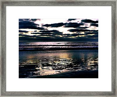 Darkness Can Only Be Scattered By Light Framed Print by Sharon Soberon