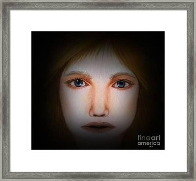 Darkness   Face Art By Saribelle Rodriguez Framed Print