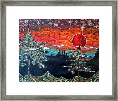 Darkness Falls From Light Framed Print by Matthew  James