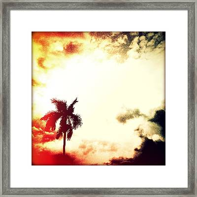 Darkness Moving In Sunset Framed Print by Chris Andruskiewicz