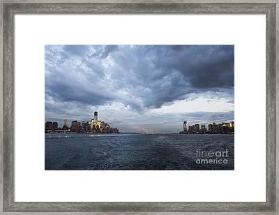 Darks Clouds Over Manhattan Framed Print