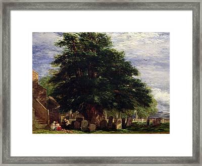 Darley Churchyard Framed Print by David Cox