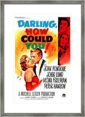 Darling, How Could You, Us Poster, Left Framed Print by Everett