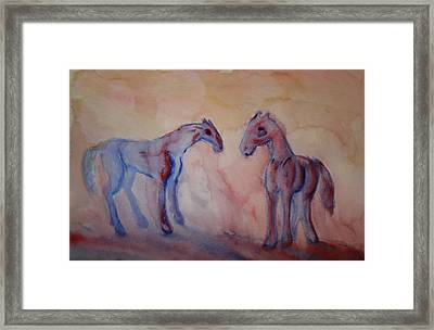 Darling I Feel So Blue It Must Be My Melancholia  Framed Print by Hilde Widerberg