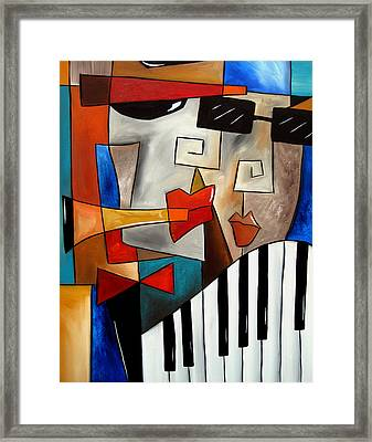 Darned Tootin - Original Cubist Art By Fidostudio Framed Print by Tom Fedro - Fidostudio