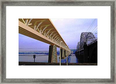 Darnitsky Bridge Framed Print by Oleg Zavarzin