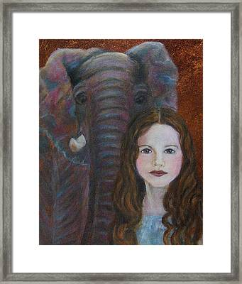 Darra  Little Angel Of                                    Feminine Wisdom And Understanding Framed Print by The Art With A Heart By Charlotte Phillips