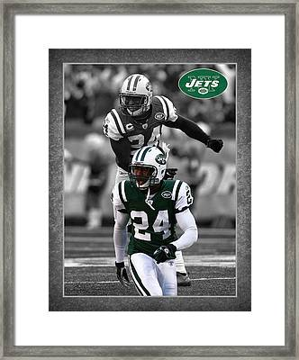 Darrelle Revis Jets Framed Print by Joe Hamilton