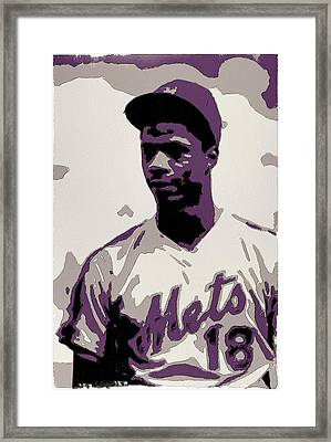 Darryl Strawberry Poster Art Framed Print by Florian Rodarte