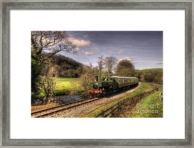 Dart Valley Pannier Framed Print by Rob Hawkins