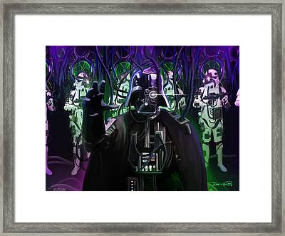 Darth Borg Framed Print