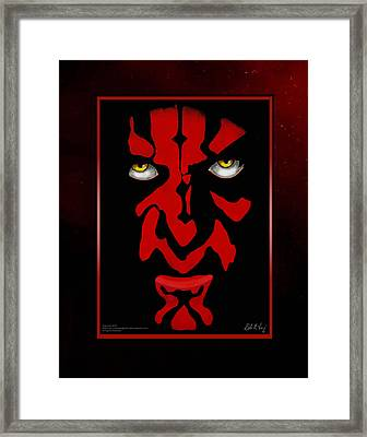 Darth Maul Framed Print