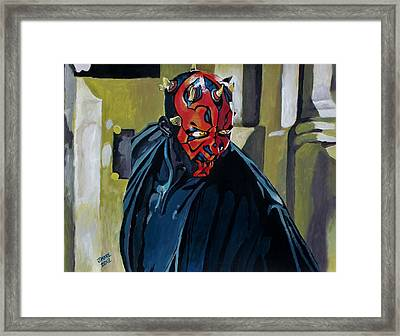 Darth Maul Framed Print by Jeremy Moore