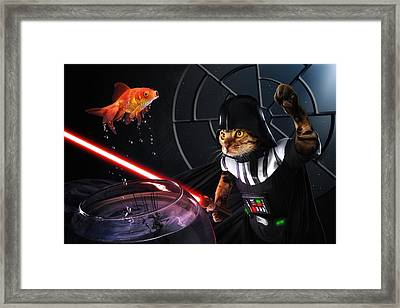 Darth Sushi Framed Print