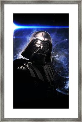 Framed Print featuring the photograph Darth Vader by Aaron Berg
