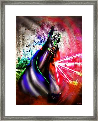 Darth Vader  Framed Print by Daniel Janda