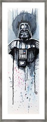 Darth Vader Framed Print by David Kraig