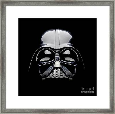 Darth Vader Helmet Framed Print by Jon Neidert