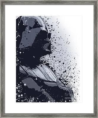 Darth Vader Ink Framed Print