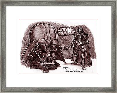 Darth Vader Lord Of The Sith Framed Print