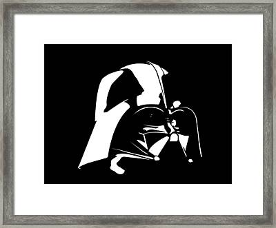 Darth Vader Framed Print by Nathan Shegrud