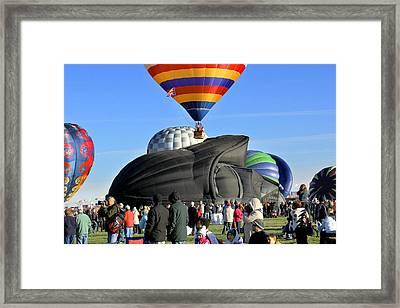 Darth Vader Rises Framed Print by Mike McGlothlen