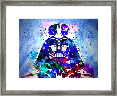 Darth Vader Star Wars Framed Print by Daniel Janda