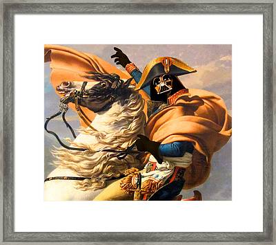 Darth Vader Star Wars Napoleon Painting Framed Print by Tony Rubino
