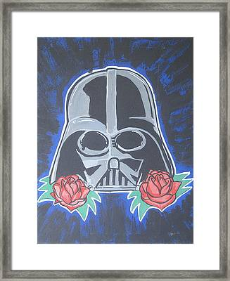 Darth Vader Tattoo Art Framed Print by Gary Niles