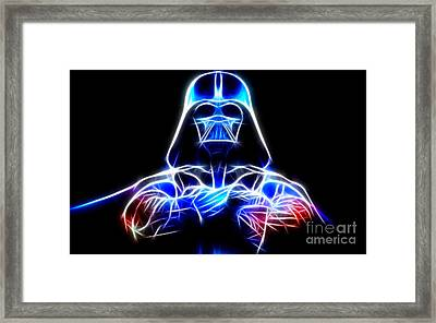 Darth Vader - The Force Be With You Framed Print