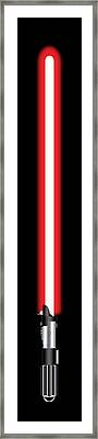 Darth Vader's Lightsaber Framed Print
