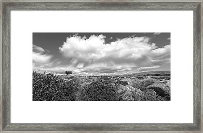 Dartmoor Panoramic In Black And White Framed Print by Gill Billington