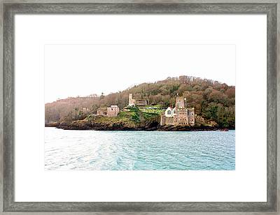 Dartmouth Castle And Church Framed Print by Kevin F Cook